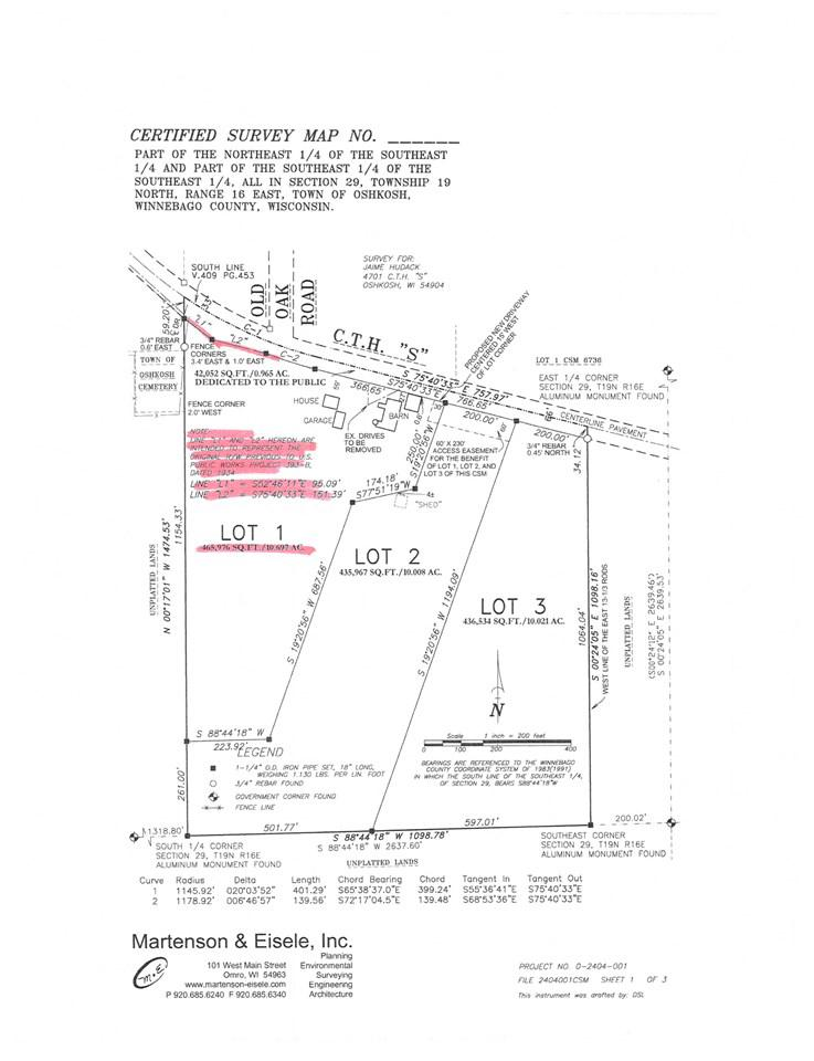 View Vacant Land For Sale at HWY S, Oshkosh, WI