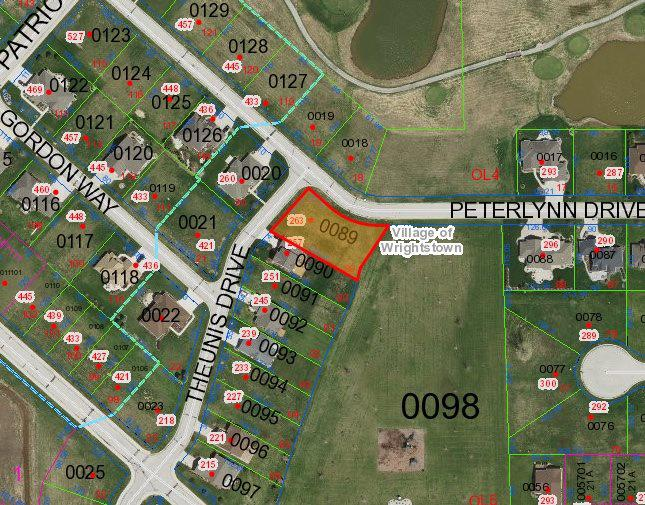 View Vacant Land For Sale at 263 THEUNIS DRIVE, Wrightstown, WI