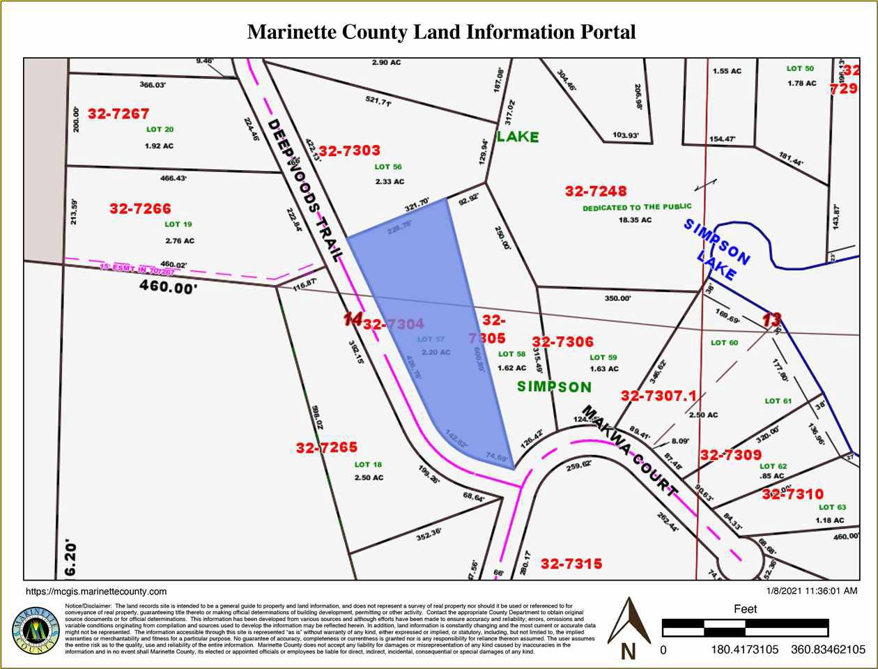 View Vacant Land For Sale at DEEPWOODS TRAIL, Crivitz, WI