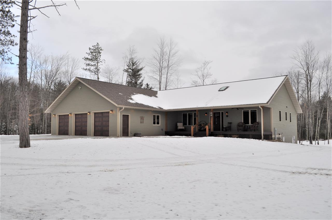 View Single-Family Home For Sale at W6195 BARKER ROAD, Amberg, WI