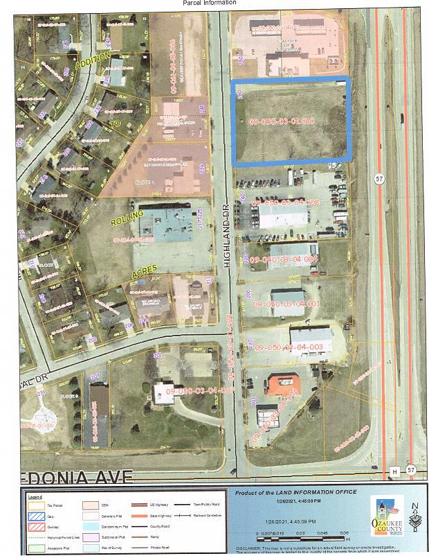 View Vacant Land For Sale at 260 Highland Dr, Fredonia, WI