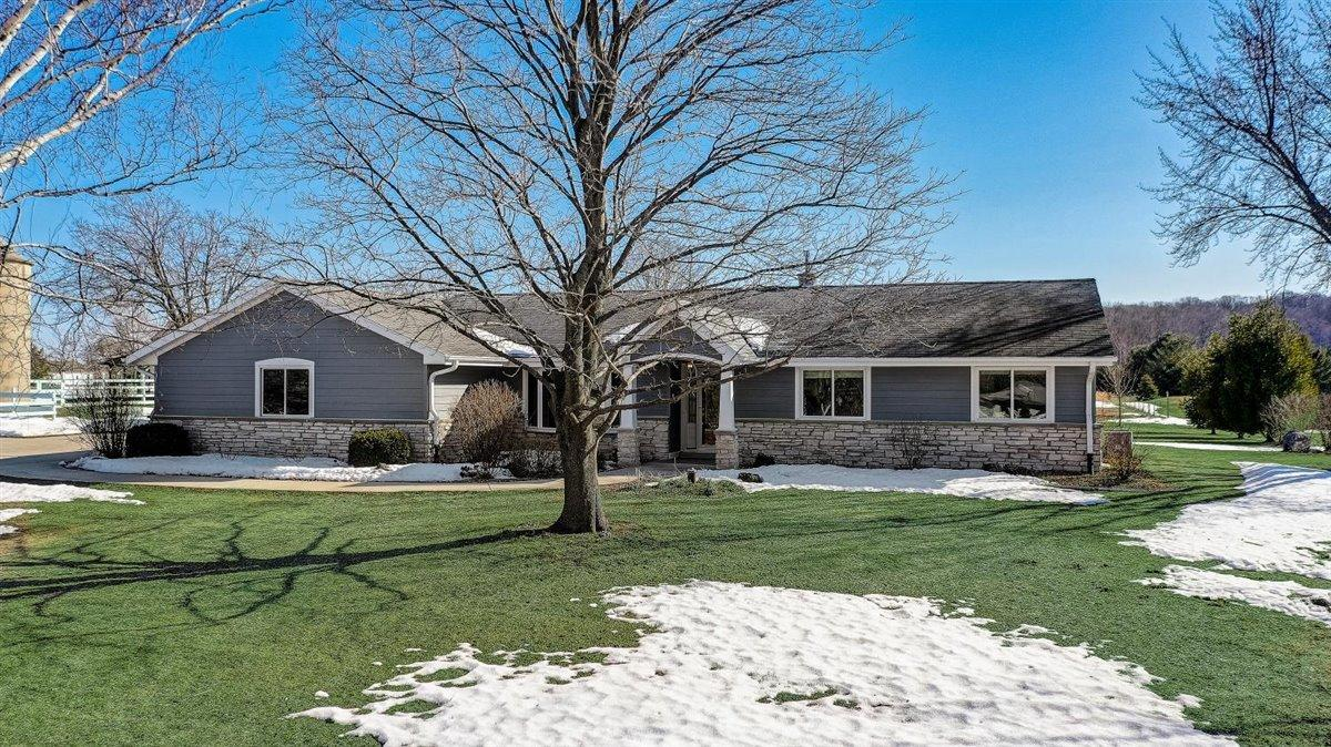 View Single-Family Home For Sale at 1735 Cedar Sauk Rd, Saukville, WI
