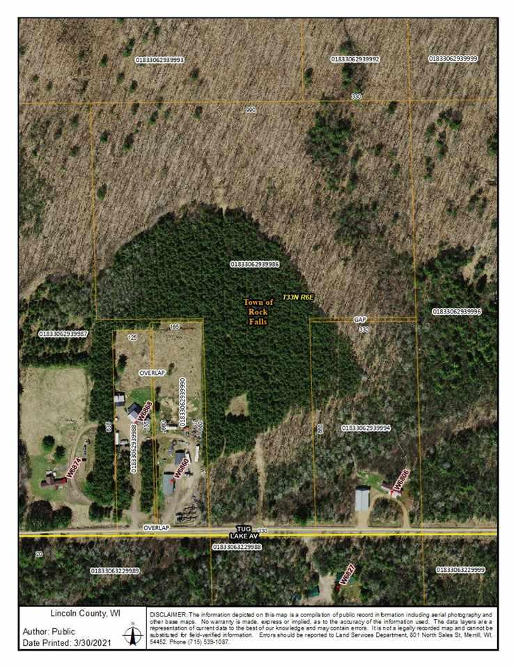 View Vacant Land For Sale at 0000 TUG LAKE AVENUE, Irma, WI