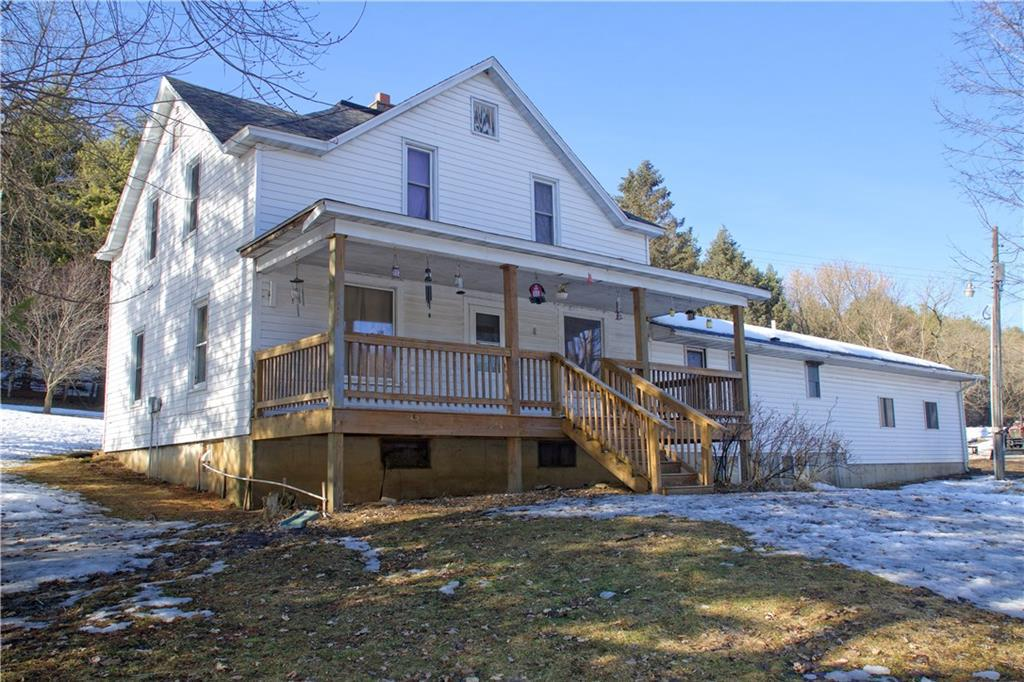 Set among the Modena bluffs in a quiet valley is this 5+ Bdrm Hobby Farm incl. 10 acres of woods, fenced pasture & spring fed creek in a prime hunting area. Enjoy the views  & wildlife on the 8x28 country porch. Many updates between 2016-2018 include: (per seller) Metal roof, electric, Lean-to, hydrant, well pump & pressure tank for barn; Furnace/AC, H2O heater, insulation, & more in home. Home has 26X26 add. w/basement, some orig.wood floors. Your dreams of a peaceful hobby farm can come true!