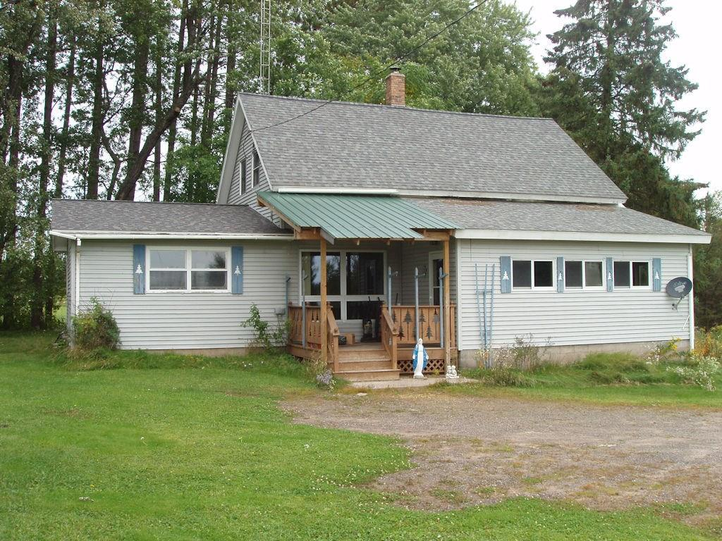 (161/PB) Go Country! This 3 bedroom, 2 bath home located on Hwy. 13 between Butternut and Glidden is situated on 2 +/- acres. Main level features large enclosed entry way, combined kitchen/dining area, living room with fireplace, bedroom, 2 baths and a large laundry room. The upper level has 2 bedrooms, multi-purpose room at the head of the stairs. Basement. Forced air heat. Drilled well. Septic. 3 car detached garage with attached workshop. Just what you're looking for-right? Motivated seller. Asking $71,500. 2019 taxes: $1,209. (8-41N-01W)
