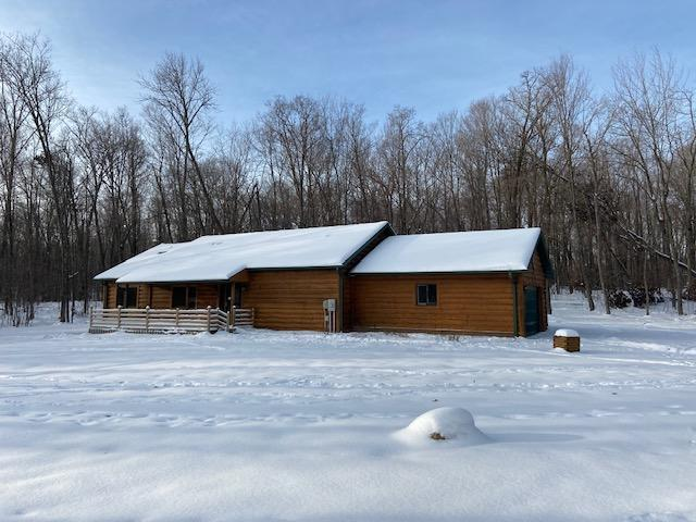 Cozy 3BR 2BA log sided home near Bone Lake. Located on a private 1.25 acres with the boat landing just down the road. Enjoy the peace and quiet while sipping your coffee from the deck or patio!