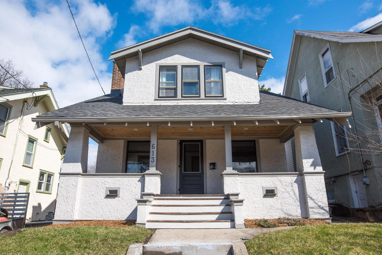You don't want to miss this one! This home has been completely renovated while still maintaining the original woodwork and charm.  Stunning wood floors throughout, all new kitchen and appliances, new boiler (2018), new roof (2019), newly paved driveway with room for four cars and all new bathroom with beautiful walk in shower.  Re-finished front porch and landscaped yard. Each bedroom has it's own fan and larger closet. Within walking distance to the heart of downtown Waukesha to include bars, restaurants and parks.
