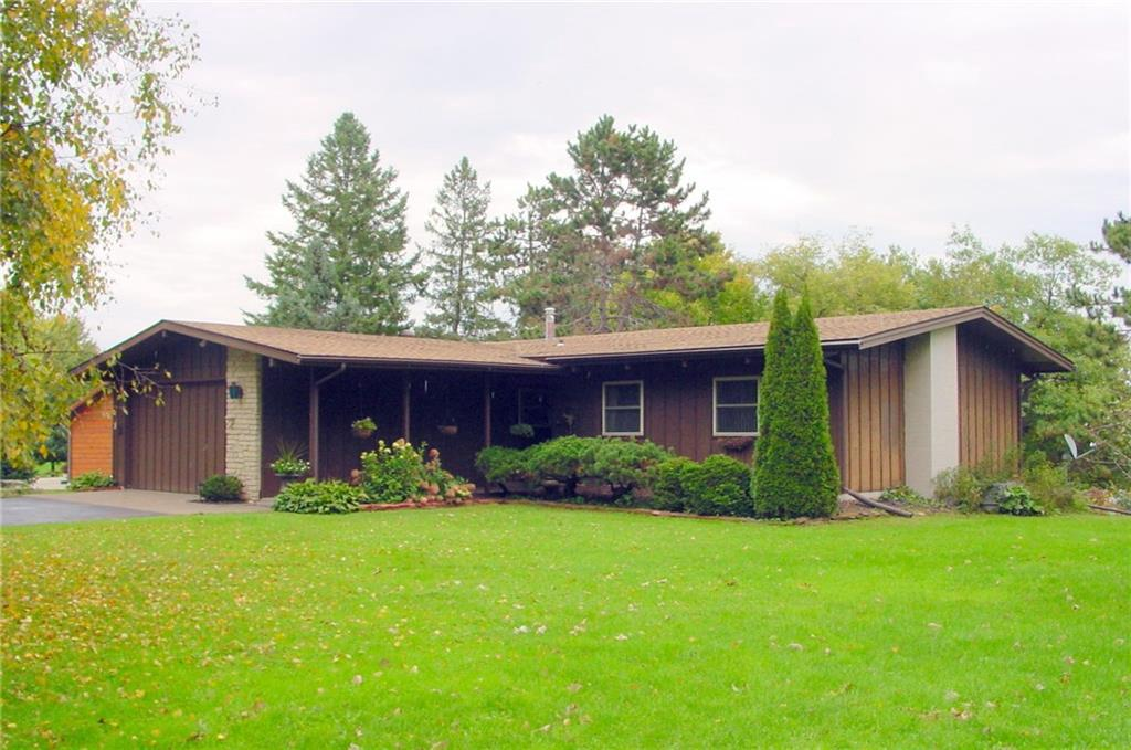 Architecturally unique home, loaded with character. From the vaulted ceilings with an exposed beam concept, that is also conveyed on the lower level, to the spacious rooms and open living area that features cherry laminate flooring and amazing upstream views of the Ladysmith Flowage. Quality updates include roof, windows, furnace and water heater. Attached 2 car garage is insulated and the walkout basement allows additional living area and storage. Outside, the large, cul-de-sac lot boasts 140 feet of waterfront and provides excellent curb appeal in a quiet and safe neighborhood. This is wonderful family home with a fantastic location.