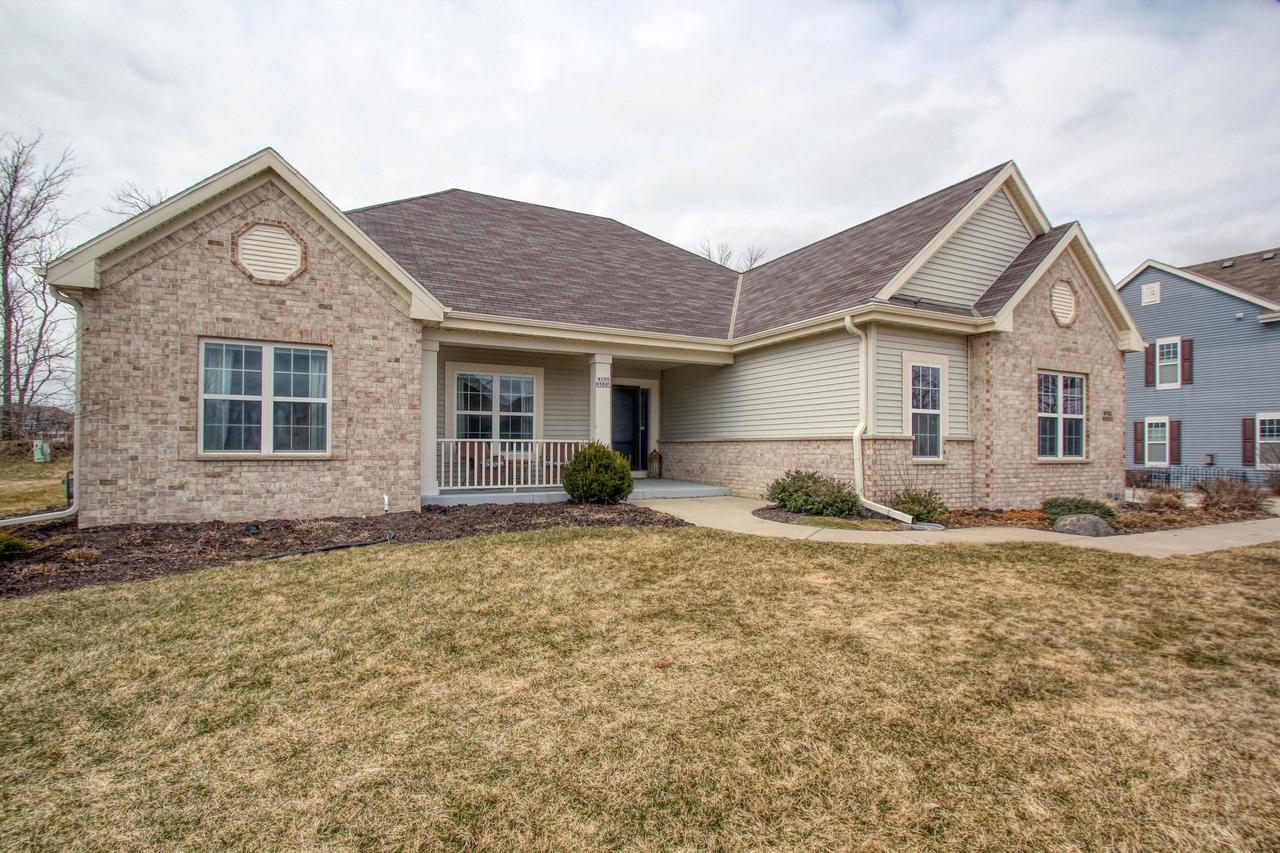 Absolutely move in ready 4 BD 3 BA open concept ranch in desirable Spencer's Pass Subdivision.Spacious chef's kitchen w/maple cabinets, hand scraped hickory flooring (2017), recently updated quarts counters, touch faucet and backsplash (2018). Kitchen opens to an inviting great room w/ gas fireplace and an array of windows w/Levelor faux wood blinds (2019).  MBR w/tray ceiling, private bath w/CT shower and walk-in closet.  Bedroom 2 w/ beautiful white shaker wainscoting (2014).  Incredible LL (2017) is a complete living area in itself.  Finished cabinetry, counters, sink, refrigerator along w/ massive FR, 4th BD w/sliding barn doors, WIC and private full BA /WIS.  1st FL laundry (2018), LG patio and 3 car GA complete this package.  Ring Security system/door bell. View Virtual Tour.