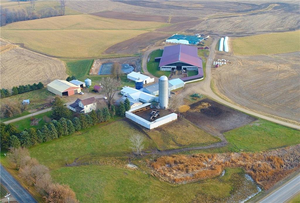 Currently milking about 320 cows, double parallel milking parlor, Delaval 7000 gallon bulk tank, 2 large free stall barns, 3 pole sheds for calves, hay storage and machine storage. 1.8 million gallon concrete manure pit, 2 silos and a 130 x 180 asphalt slab for silage storage. More land available for purchase or rent.