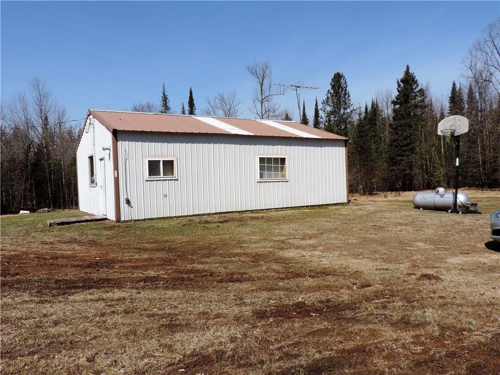 This is a great location to get out and away.  Little 3 bedroom cabin on 10 acres just out of Solon Springs.  It has everything you need. Drilled well, Holding Tank, Stove and Refrigerator and of course the buck pole is included!