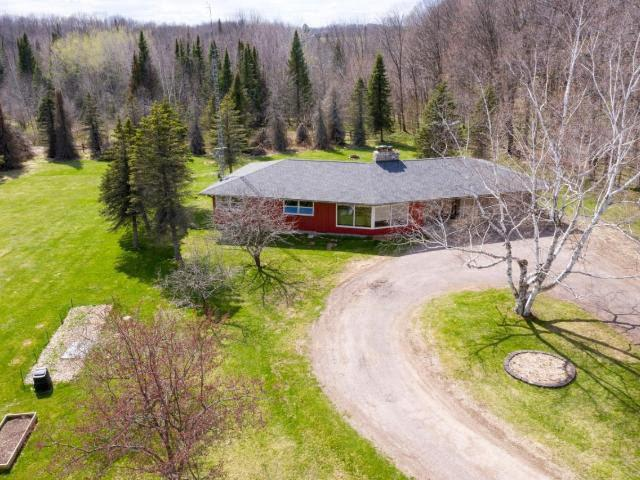 From the moment you pull into the driveway, you will know you are home! This unique ranch is set back off the road on a gorgeous 2.9 acre parcel. Property is located south of Antigo on Hwy 45 making it convenient for those commuting to Wausau for work. Home features 3 bedrooms, 1.5 baths, kitchen with an abundance of oak cupboards, snack bar and a beautiful 3-sided stone fireplace that you can enjoy from both the living and dining rooms. Large bedrooms, main floor laundry (with the option to move it back to basement), and partially finished basement with several bonus rooms make this a perfect home for your growing family. Step outside and you will see the large back yard with patio, firepit and horseshoe pit along with plenty of space to enjoy your outdoor activities. Call today to view as property is priced to sell!