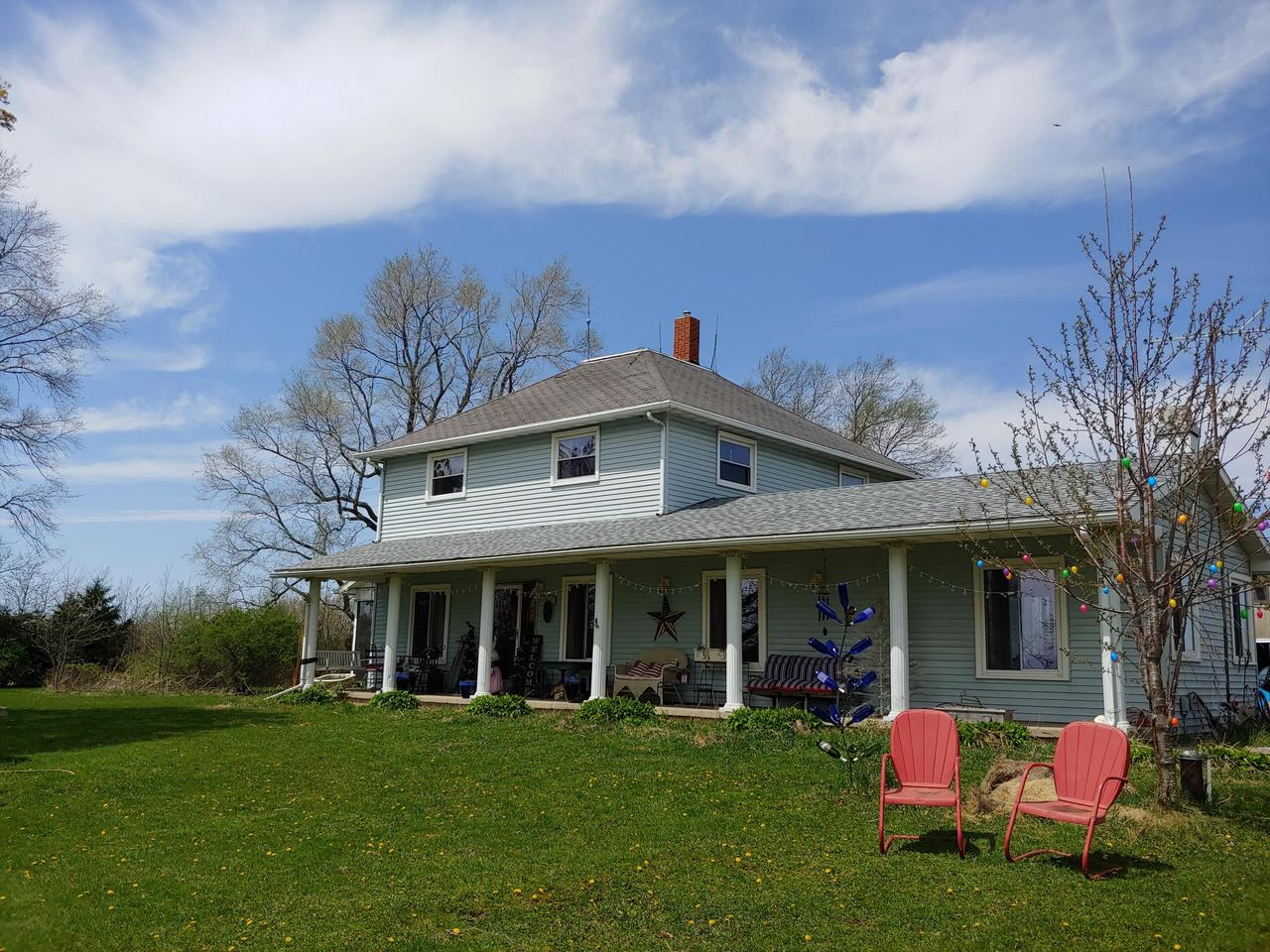 Your own slice of Paradise on 5 acres close to Kettle Moraine, Whitewater Lake and elementary school. Large Country Kitchen with hardwood floors and bay window.  Massive Great Room with nfp.  Formal dining room, Office leading to screen porch.  Large Master Bedroom with bath.  Jacuzzi and shower in full bath.  6 stall horse barn, 4 car garage, Large barn with hay storage.  As per A-1zoning can have numerous animals