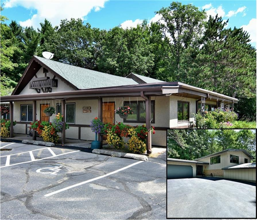 AMAZING OPPORTUNITY! Own this 95 seat legacy supper club in the heart of the Hayward Lakes/Chippewa Flowage area. This package includes Chippewa Inn restaurant and the owner's home on the adjacent 30+ acre parcel. The restaurant features a full bar/lounge area, two dining rooms, updated commercial kitchen and onsite lodging. The 3 bed/2 bath, 3000 sq. ft home is loaded with recent updates including bright open kitchen with custom hickory cabinets, granite countertops, all new high-end appliances, spacious hobby room & family room. The home is equipped with discrete elevator and is designed to be handicapped accessible.The 30 acre fully-wooded lot features 1.5 miles of mowed trails- let your imagination run wild!