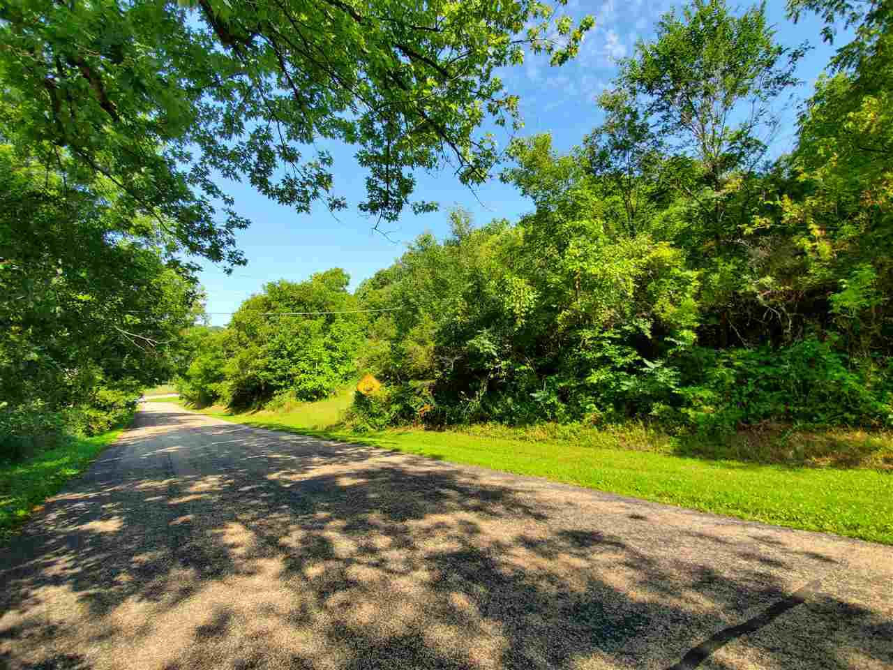 Beautiful wooded lot just 12 miles from Madison.  The building site on the lot will offer views for miles around. The lot is situated at the corner of County Road F and Turkey Road. The driveway is on Turkey Road.