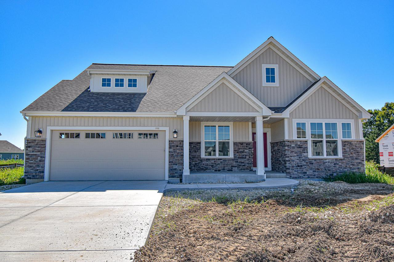 Come and enjoy this BRAND NEW, quality construction home from Stepping Stone Homes. It features 4 BR, 3 full baths with finished lower level and smart home technology w/ smart appliances. Control your lights, thermostat, door locks and doorbell all from your phone or tablet. Full 2x6 construction, high ceilings, Pella windows, fiber cement siding, large closets and laundry room, quartz/marble counter tops, tall kitchen cabinets with soft close - dovetail cabinetry, upgraded flooring, active radon mitigation system AND energy certified are just a few of the features this home has to offer! It also has an electric fireplace w/ remote and custom color options. Take advantage of this large home in a new and fast growing subdivision that is quiet, yet close to the highway. Don't Miss it