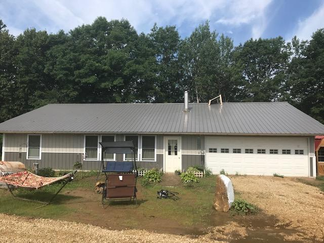 2 bedroom, 1 full bath, ranch home w/2 car attached garage, one level living, built in 2018. Very private, tucked in 6.74 acres with mature trees. Cute small horse barn, fenced pasture for your horses or other animals.