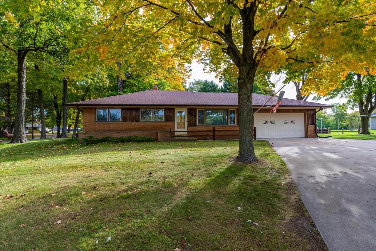 Meticulously maintained 3 bedroom, 2 full bath Ranch in the Slinger School District. This home is in not in a subdivision and in the Town of Polk which is known for low taxes. This gem is nestled on .67 acres wooded yard with private patio and space for garden. Updated kitchen with newer stove and counter tops. Rec room in basement is finished and perfect for entertaining. This home has an additional family room that has an open concept feel to the kitchen. There is a 40X25 pole shed for all your hobbies and toys. Many updates throughout including newer furnace, central air and bath room.