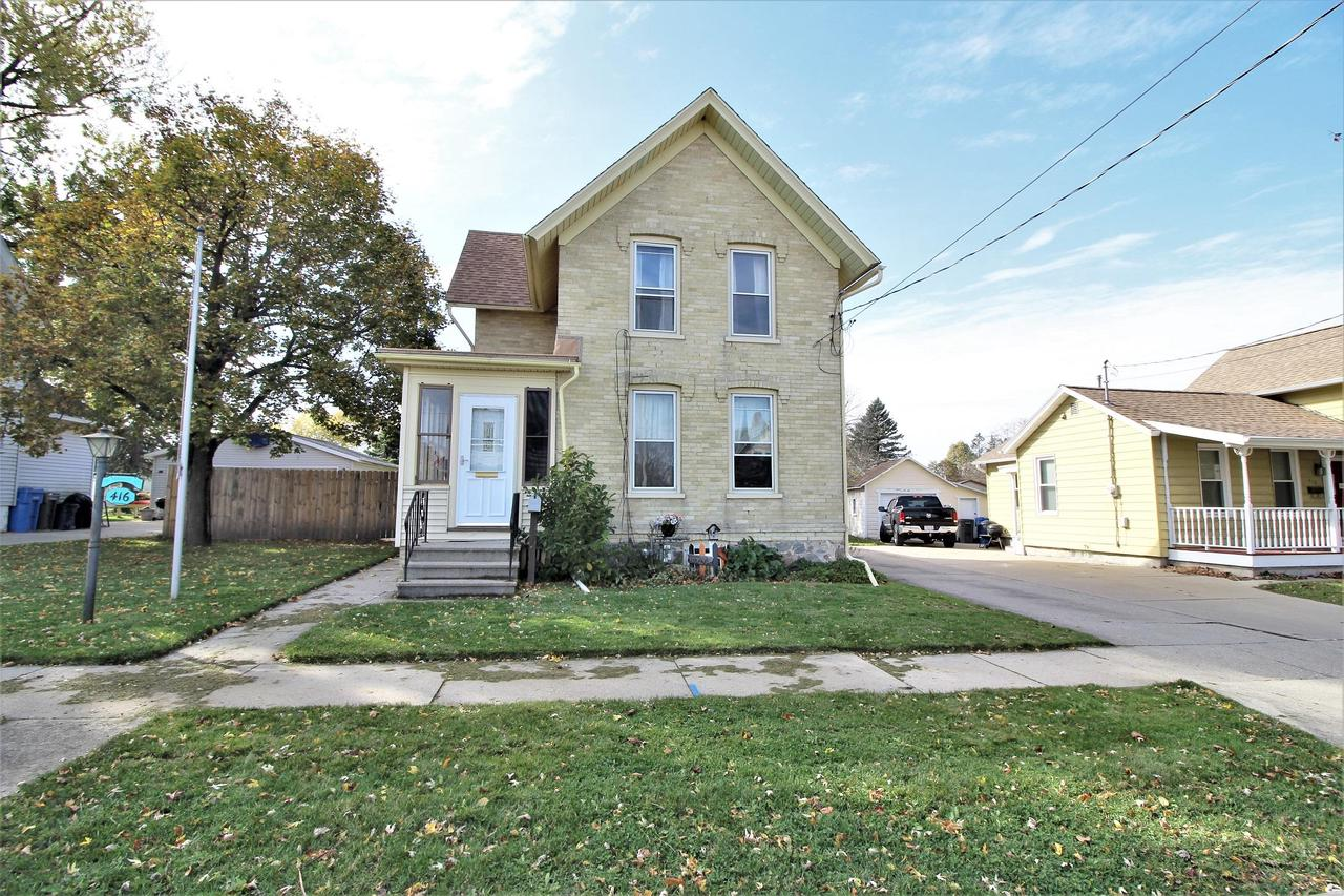 Here is what you've been looking for.  A 3 bedroom, 2 bath home with a fenced in yard and a large 1.5 car garage.  Home has access to the basement from both inside and outside the house.  There is also an area on the main floor that can be used as a laundry area. Brand new roof in September 2020!