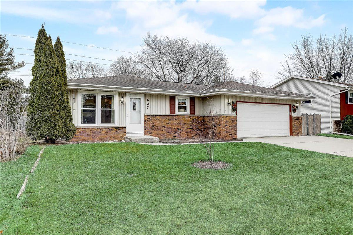 Great find in West Bend!!  Here is an affordable ranch home that is move in ready.  Located in a subdivision on the northeast side of town, you will find this 3 bedroom 1.5 bath home with an attached 2.5 car garage which has a rear garage door, plus another detached 1.5 car garage in the back yard.  The sellers have made some nice improvements in the past couple of years including windows and carpeting.  There is extra driveway parking on the attached concrete slab.  A nice looking fence encompasses the back yard. The lower level has some walls that are finished and are waiting for your ideas to complete.