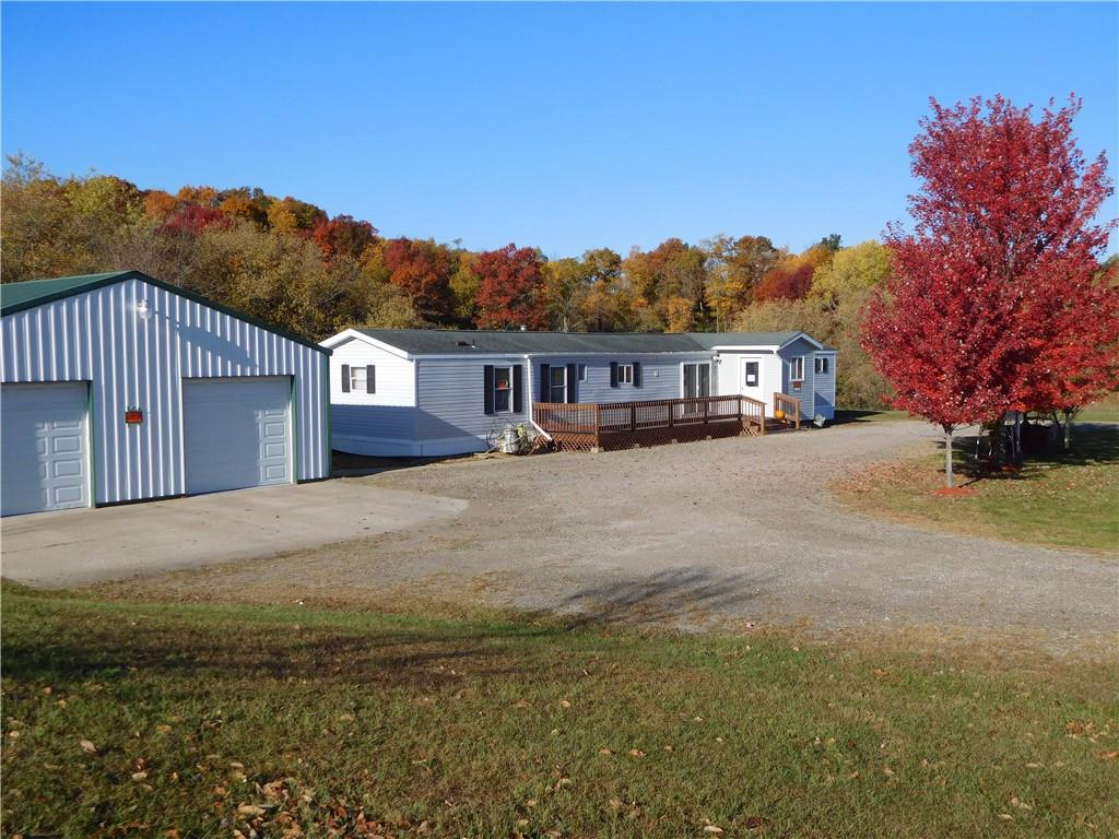 Quiet and peaceful, country living with room for animals, pasture for horses, and more. 3 stall pole shed also offers room to convert to nice large shop or a place for animals & additional 12x10 shed. Large deck and main fl. laundry. Close by Whitehall Rod & Gun club, and trails for snowmobile. Property may possibly be split to build on the larger of the two parcels (Pls verify w town of Hale). Why rent when you can own? Property recently appraised at 140,000  Pls allow ample time for signatures
