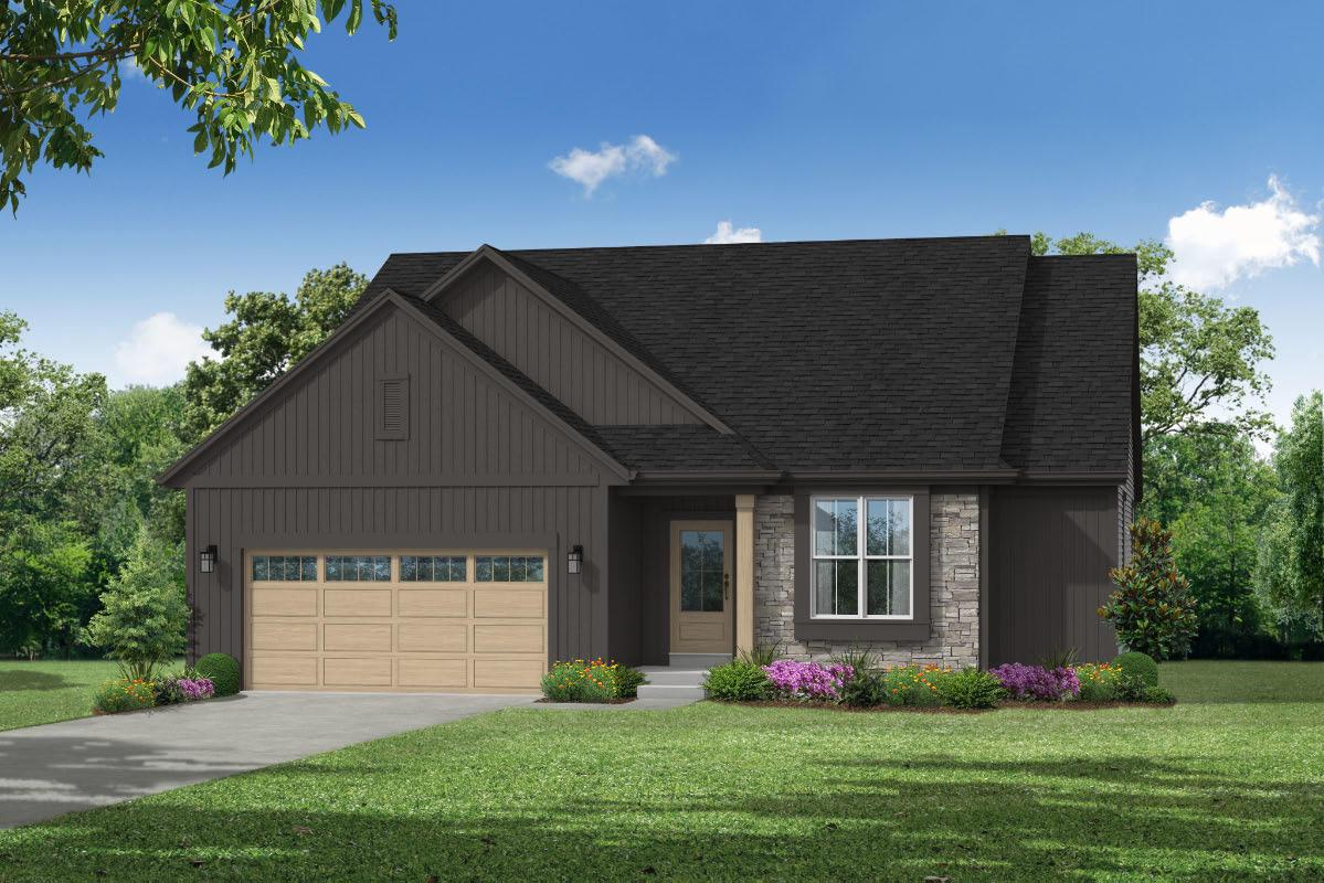 Located 12 minutes off I-94. UNDER CONSTRUCTION. The Lauren 1660 is a 3 bedroom/2 bath ranch home offering a generously sized master bedroom & shared living spaces - including the great room w/ GFP, kitchen & dining - at the back of the home for privacy. A large granite island, spacious WIP, S.S. kitchen appliances & ample storage cabinets in the kitchen provide the perfect space for meal preparation. The master bedroom offers an on suite bath w/ WIC, dual sinks, and spacious shower. Towards the front of the home & away from the master bedroom are two spacious secondary bedrooms & a hall bath. Finishing this home is a convenient mudroom w/ bench & 1st floor laundry. Home is plumbed for future bath & has egress window @ basement. Price includes concrete drive.