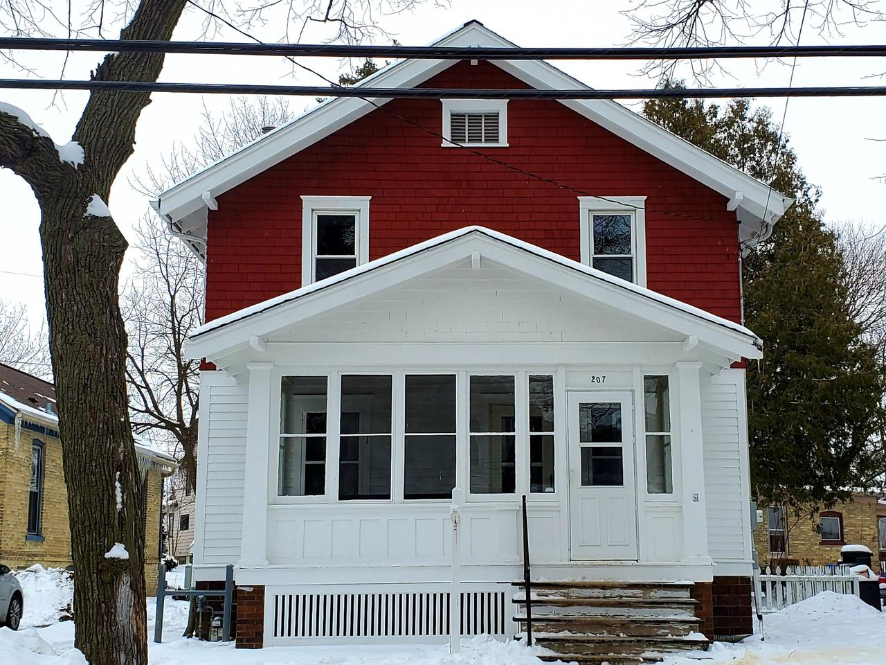 REMODELED AND AFFORABLE best describes this 3 bedroom, 1.5 bath home. The interior & exterior have been freshly painted. New flooring with luxury vinyl plank throughout the 1st floor. New electrical panel, outlets & lighting. Brand new kitchen with stainless steel appliance package, pantry, tile backsplash, soft close doors & butcher block counter tops! Both of the bathrooms have also been completely remodeled with tile tub surround & solid surface vanities. All this & still maintaining it's character with the original woodwork & doors! Last but not least there is an enclosed porch to enjoy & most of the windows in the home have been updated.
