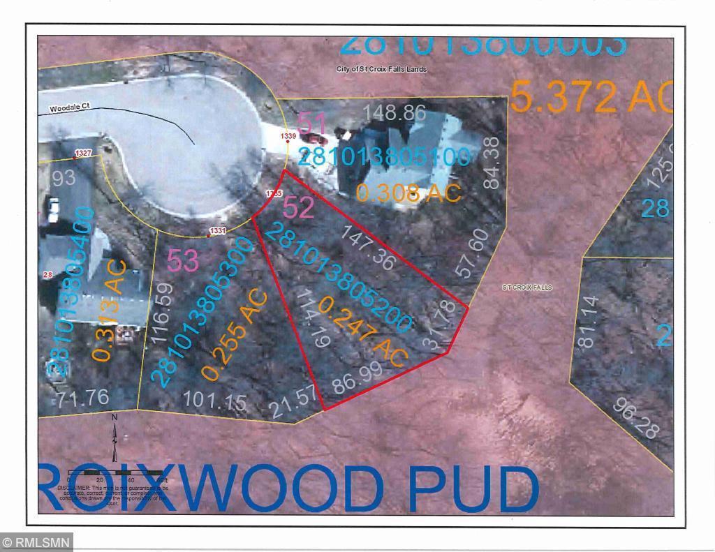 Lot 52 Woodale CT COURT, SAINT CROIX FALLS, WI 54024