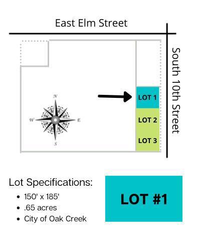 Lt1 10th Ave AVENUE, OAK CREEK, WI 53154