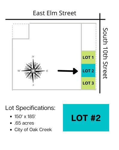 Lt2 10th Ave AVENUE, OAK CREEK, WI 53154